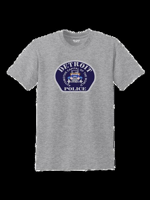 Detroit Police Car Patch T-Shirt 8000
