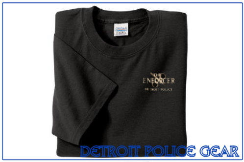Detroit Police The Enforcer Embroidered T-Shirt