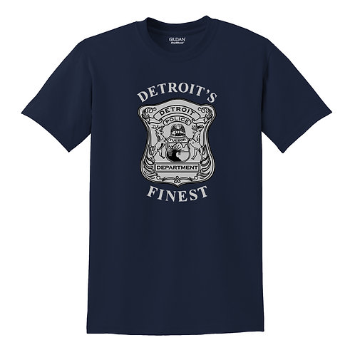 Detroit Police Finest (Old Style) Badge T-Shirt 8000