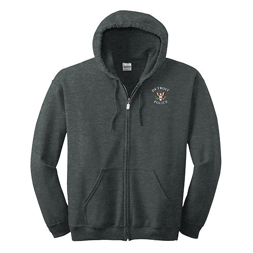 Detroit Police Eagle Embroidered Full-Zip Hoodie 18600