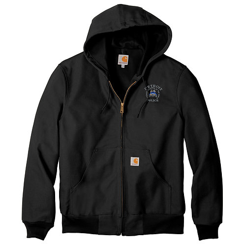 Carhartt Tall Thermal-Lined Duck Active Jac Detroit Police Car Jacket CTTJ131