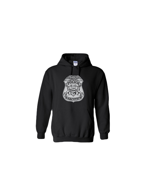 Detroit Police Narcotics Badge Hoodie