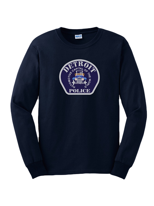 Detroit Police Car Patch Long Sleeve Shirt