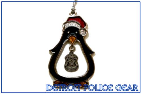 Detroit Police Penguin Ornament