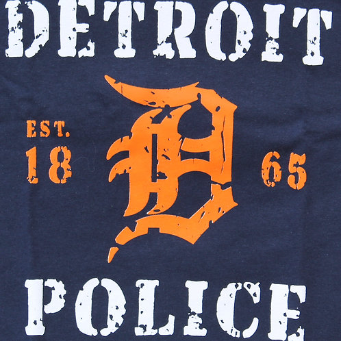 Detroit Police 1865 D Washed Style T-Shirt