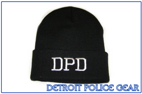 Detroit Police DPD Beanie Hat with Cuff
