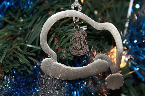 Detroit Police Santa Hat Ornament
