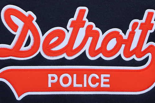 Property of Detroit Police Applique Hoodie