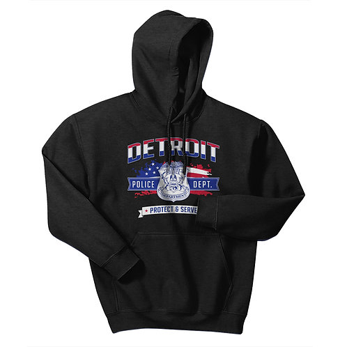 Detroit Police Protect & Serve Freedom Hoodie 18500