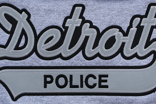 Property of Detroit Police Applique Grey Hoodie