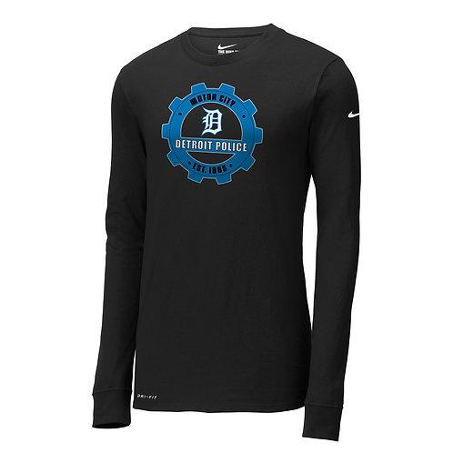 Nike Detroit Police Gear Dri-FIT Cotton/Poly Long Sleeve Tee NKBQ5230
