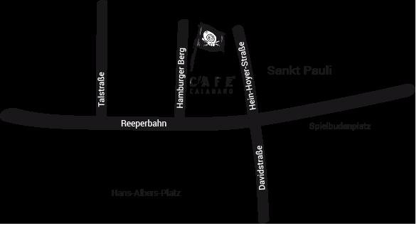 Café Calamaro, Karte, Hamburger Berg, St. Pauli