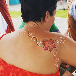 Flower Body Paint -  Oregon Festival