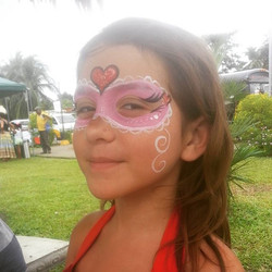 Heart mask face paint - Medford