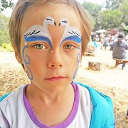Swan Face Paint - Ashland, Oregon