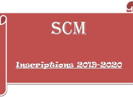 INSCRIPTIONS 2019-2020
