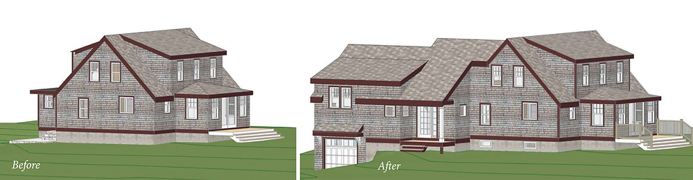 Coastal Addition Before and After