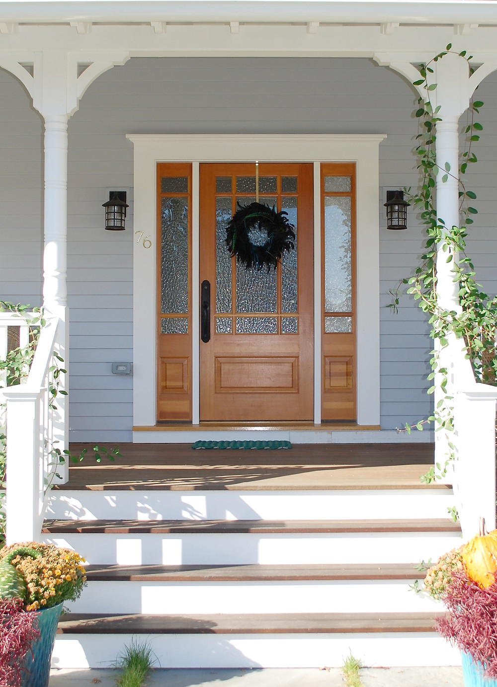 Wood Front Door with Sidelights