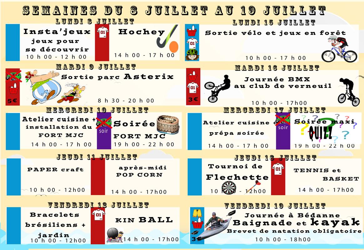 programme Jeunesse MJC Verneuil - juille