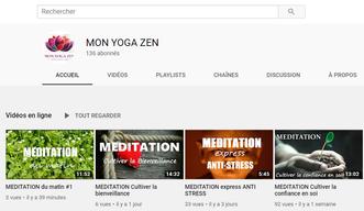 Une chaîne Youtube pour pratiquer relaxation et méditation avec Mon Yoga Zen