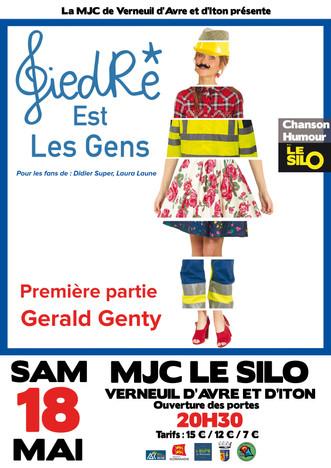Concert GiedRé + Gerald Genty le 18 mai au Silo