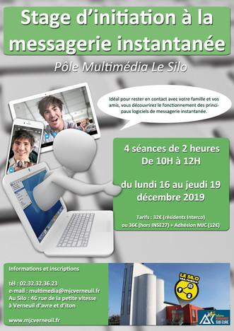 Un stage d'initiation à la messagerie instantanée et aux appels vidéo du 16 au 19 décembre 2019