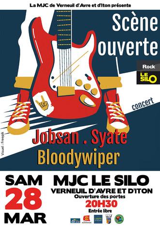 Scène ouverte au Silo avec trois groupes le samedi 28 mars