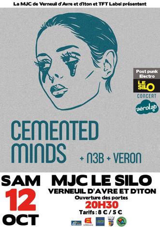 Cemented Minds, N3B et Véron en concert au Silo dans le cadre de la tournée Aérolab du TFT Label