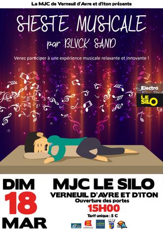 Une sieste musicale au Silo le dimanche 18 mars à 15h00 avec Blvck Sand