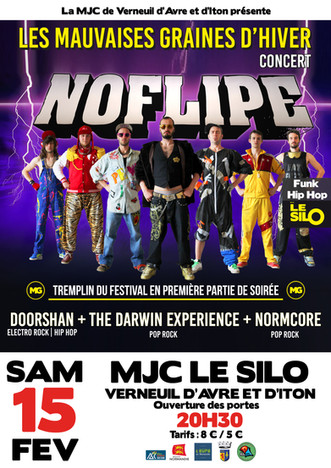 Les Mauvaises Graines d'hiver : concert du groupe funk hip hop Noflipe et tremplin du festival a