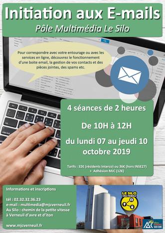 Un stage pour prendre en mains votre boite e-mail du 07 au 10 octobre 2019 à la MJC le Silo