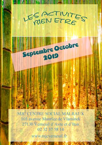 Programme des activités bien-être en septembre et octobre 2019