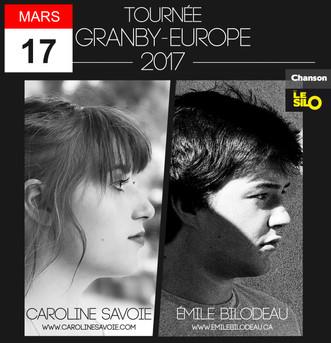 Le 17 mars, Caroline Savoie et Emile Bilodeau posent leurs valises au Silo pour la grande tournée eu