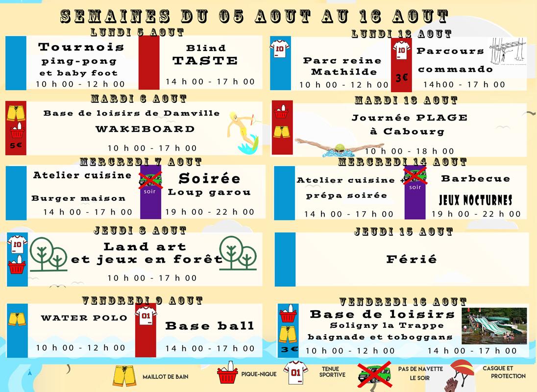 programme Jeunesse MJC Verneuil - aout 2
