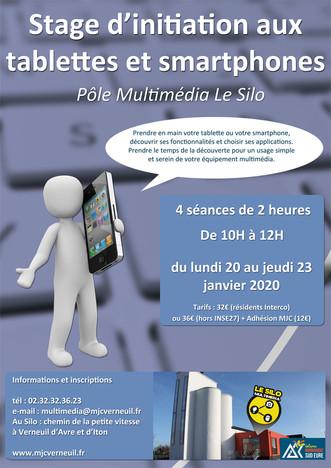 Prenez en main votre tablette ou votre smartphone, un stage pour s'initier à la MJC Le Silo en j