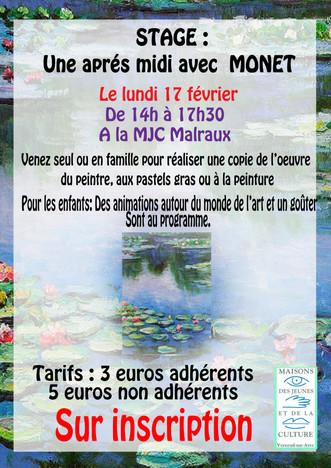 Venez passez un après-midi avec Gaëlle à la découverte des œuvres de Claude Monet le 17 février