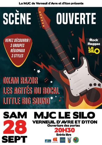 Scène ouverte : Les agités du bocal + Okam Razor + Little Big Sound à découvrir le 28 septembre au S