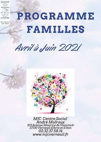 Programme d'activités famille d'avril à juin