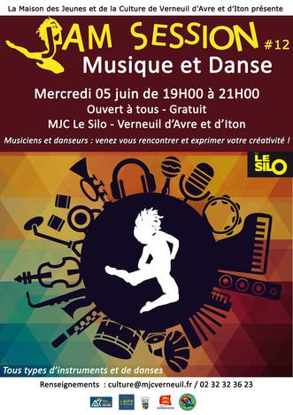 Jam Session #12 : Musique et danse pour tous à la MJC Le Silo le 05 juin.