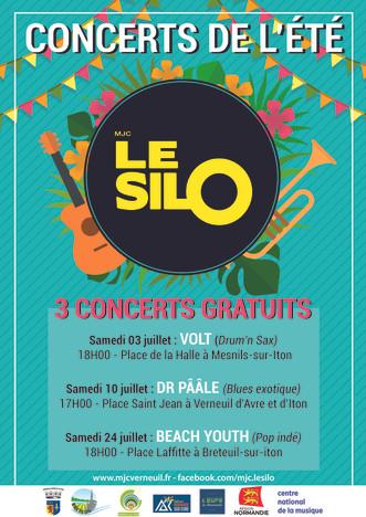 Trois concerts gratuits en plein air à Verneuil, Damville et Breteuil proposés par le Silo cet été