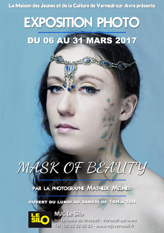 "Du 06 au 31 mars, découvrez l'exposition photo ""Mask of Beauty"", par la photographe Ma"