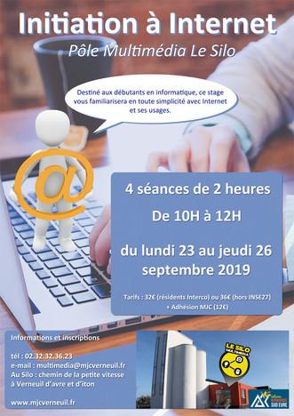 Un stage d'initiation à Internet au pôle multimédia du 23 au 26 septembre 2019