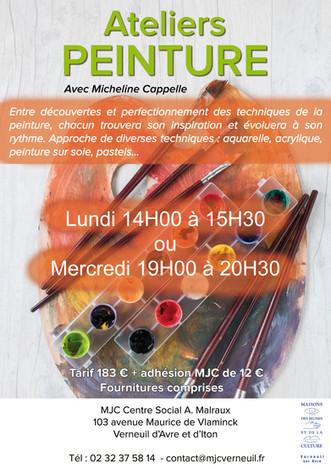 Des ateliers de peinture sont proposés dans votre MJC