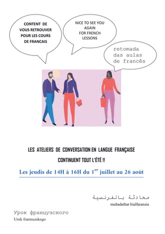 Les ateliers de français se poursuivent durant l'été au Centre Social