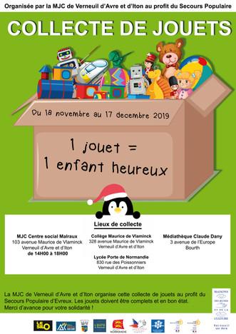 La MJC organise une collecte de jouets au profit du Secours Populaire