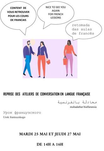 Reprise des ateliers de conversation en langue française