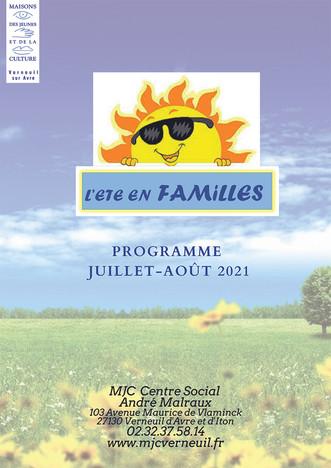 Découvrez le programme de l'été au secteur Familles