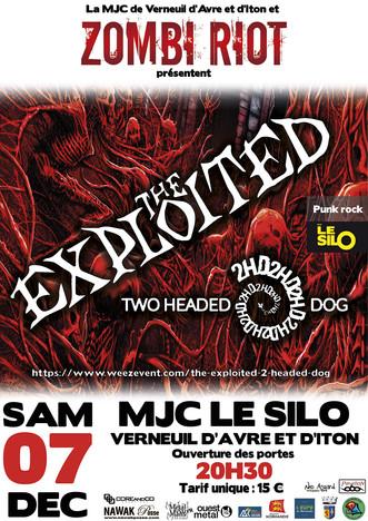 Concert Carte Blanche à Zombi Riot :  The Exploited + 2 Headed Dog le 07 décembre au Silo