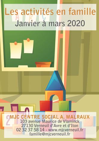 Découvrez le programme des activités parents-enfants pour la période Janvier à mars 2020