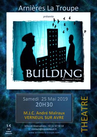 """Théâtre """"BUILDING"""" le 25 mai à Verneuil d'Avre et d'Iton"""